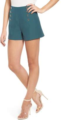 J.o.a. Button Detail High Waist Shorts