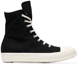 Rick Owens Canvas High Top Sneakers