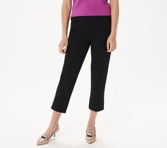 Isaac Mizrahi Live! Regular 24/7 Stretch Crop Pants with Back Slit Hem