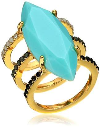Jules Smith Designs Large Stone Triple Band Opaque Ring