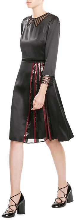 Marc Jacobs Marc Jacobs Silk Dress with Sequins