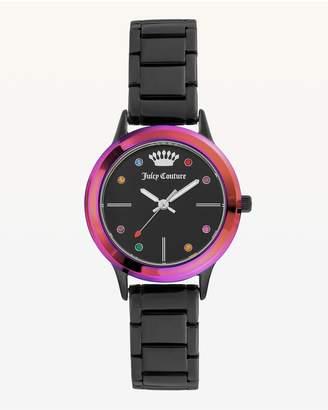Juicy Couture Rainbow Bezel Metal Watch