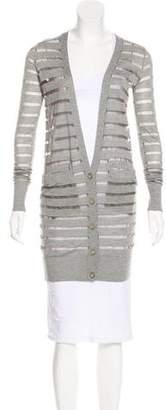 Diane von Furstenberg Long Sleeve Button-Up Cardigan