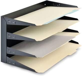 MMF Industries MMF, MMF2644HLBK, Horizontal Desk File Trays, 1 Each, Black