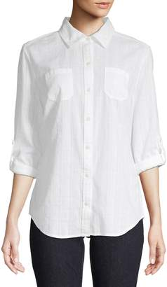 Karen Scott Long-Sleeve Button-Down Shirt