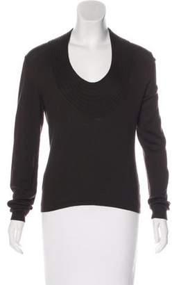 Valentino Scoop Neck Knit Sweater