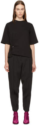 3.1 Phillip Lim Black Side Piercing T-Shirt
