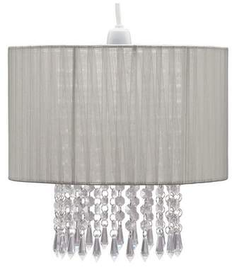 Grazia Collection Voile Droplet Light Shade - Grey
