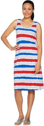Denim & Co. Beach Sleeveless Printed Dress with Pockets