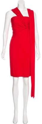 Kaufman Franco Kaufmanfranco Draped Mini Dress Red Kaufmanfranco Draped Mini Dress