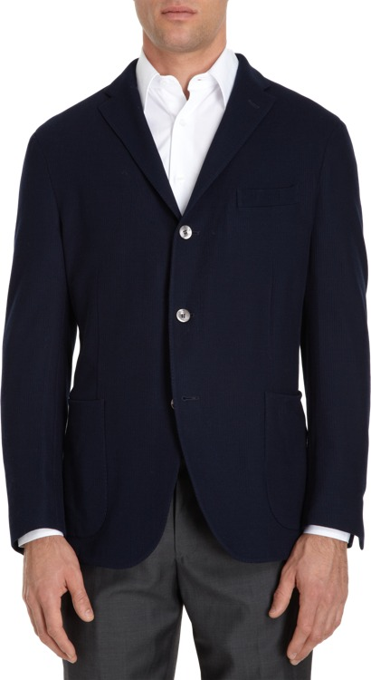 Boglioli Cotton Knit Two-Button Sport Jacket