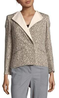 Lafayette 148 New York Textured Long-Sleeve Jacket