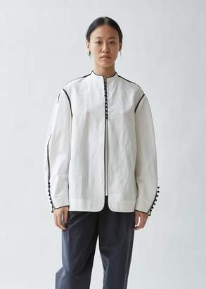 Haider Ackermann Piped Cotton Linen Blouse