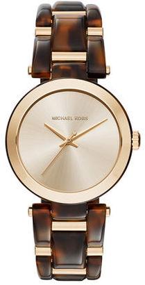 Michael Kors 36mm Delray Acetate Bracelet Watch $250 thestylecure.com