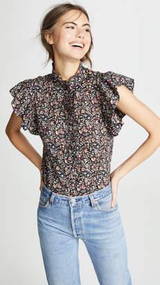 Rebecca Taylor Sleeveless Gitane Floral Top