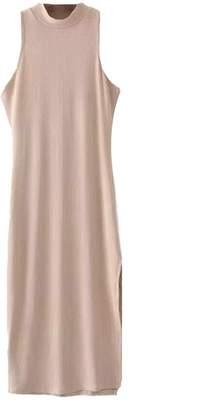 Goodnight Macaroon 'Perla' High Neck Ribbed Tank Midi Dress (6 Colors)