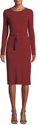 MICHAEL Michael Kors Ribbed Dress w/ Belted Waist
