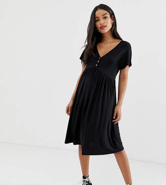 New Look Maternity nursing smock dress in black