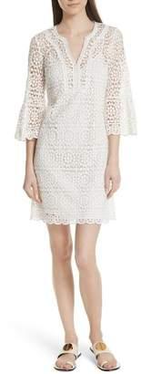 Kate Spade Bell Sleeve Crochet Shift Dress