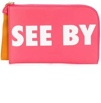 See by Chloe logo zipped clutch