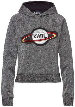 Karl Lagerfeld Space Embellished Cotton Hoody