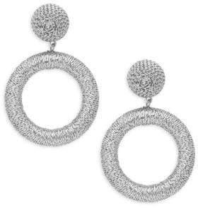 Panacea Thread Hoop Drop Earrings