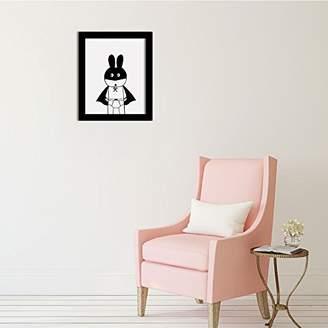 Camilla And Marc WALPLUS Rabbit Art Canvas Printing Wall Sticker, Vinyl, Multi-Colour, 40 x 30 x 5 cm