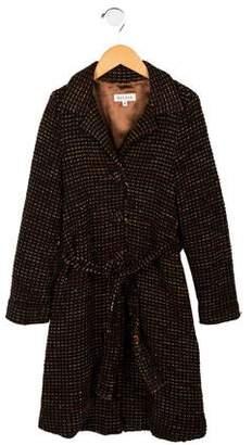 Helena Girls' Structured Tweed Coat