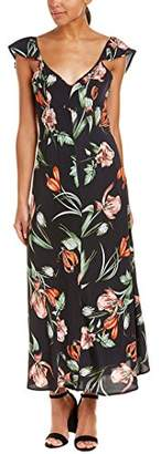 ASTR the Label Women's Florentina Floral Print Flutter Sleeve Maxi Dress