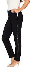 Joan Rivers Classics Collection Joan Rivers Petite Signature Ankle Pantsw/ Sequin Strip