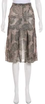Fendi Silk Sheer Skirt