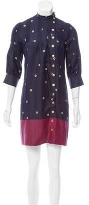 Ralph Lauren Moffat Silk Printed Dress