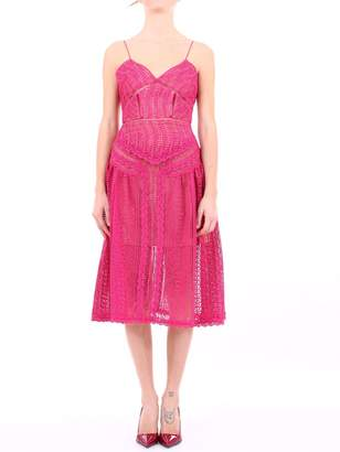 Self-Portrait Self Portrait Dress Fuchsia Lace