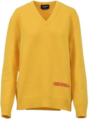 Calvin Klein V-neck Yellow Sweater