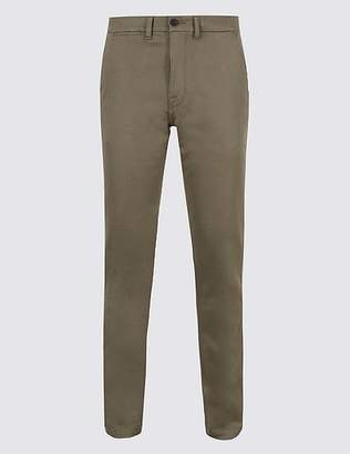 Marks and Spencer Slim Fit Cotton Rich Chinos with Stretch