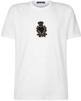 Dolce & Gabbana Logo Appliqué T-Shirt