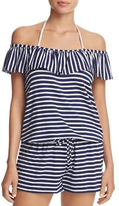 Splendid Stripe Covers Romper Swim Cover-Up