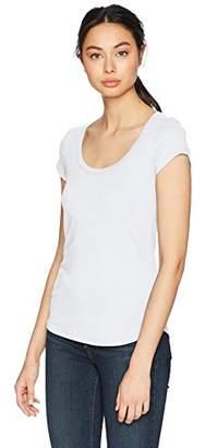 Three Dots Women's Heritage Knit Scoop Short Tight Shirt