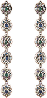 GUCCI Crystal and palladium-plated earrings $789 thestylecure.com