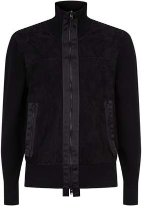 Tom Ford Knitted Suede Front Jacket