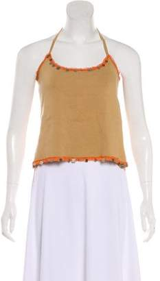 Fendi Embellished Halter Top