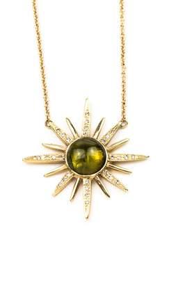 Jacquie Aiche Tourmaline Starburst Necklace