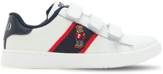 Ralph Lauren Childrenswear Logo Detail Leather Straps Sneakers