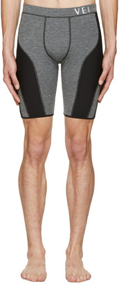 Versace Underwear Grey Running Shorts $375 thestylecure.com