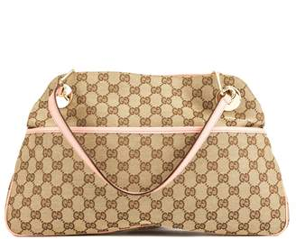 Gucci Pink Leather GG Monogram Canvas Medium Eclipse Tote (4026021)