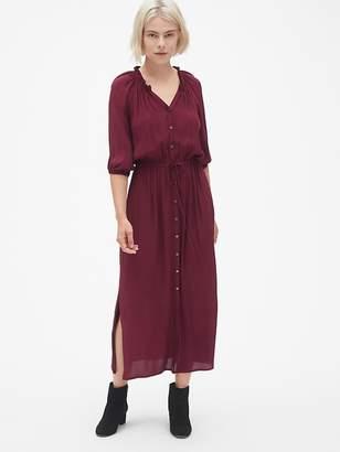 Gap Tie-Waist Maxi Shirtdress
