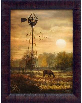 Co Artistic Reflections 'Berks Sunrise Country Farm Landscape' by Lori Deiter Framed Photographic Print