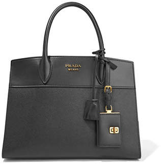 Prada - Esplanade Large Smooth And Textured-leather Tote - Black $1,975 thestylecure.com