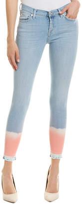 7 For All Mankind Seven 7 Light Blue Dip Dye Skinny Leg