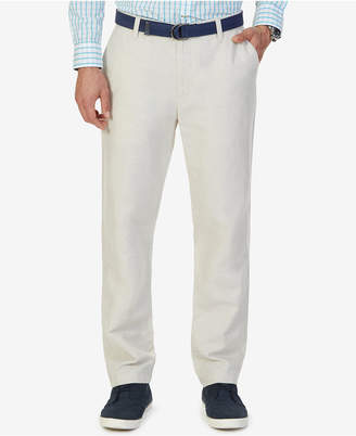 Nautica Men's Classic-Fit Linen Cotton Pants $69.50 thestylecure.com